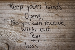 Keep your hands open