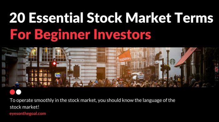20 Essential Stock Market Terms for Beginner Investors