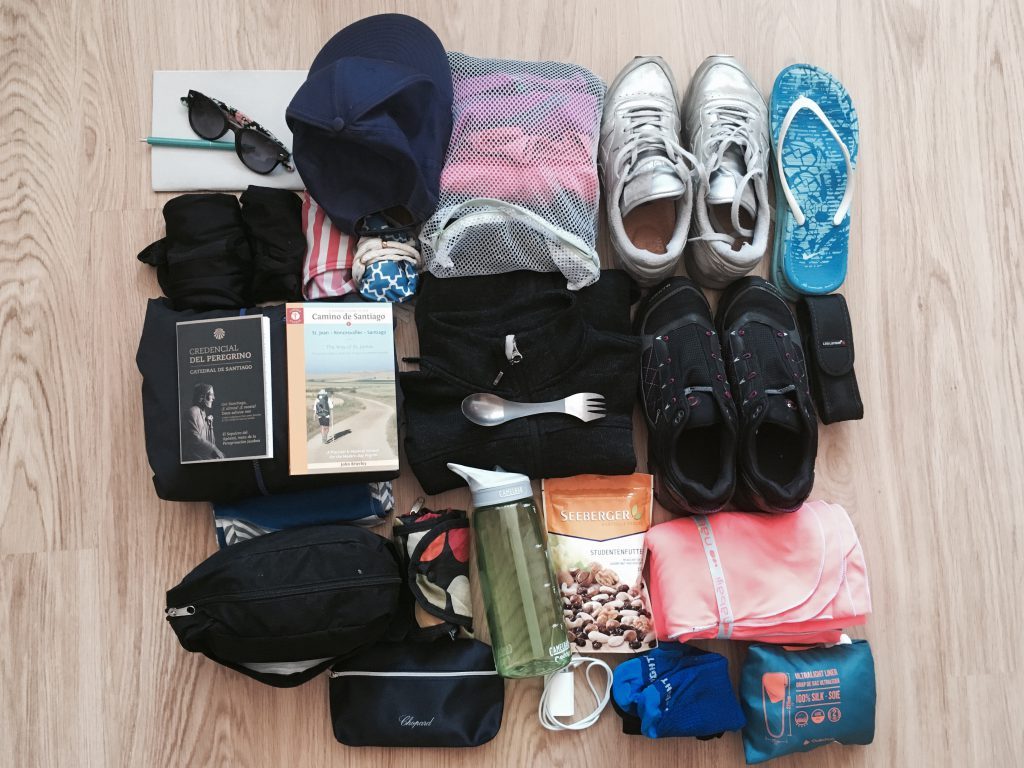My light packing list - all the items I took on the Camino