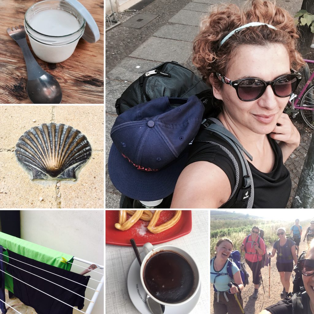 My Light packing list - collage of Camino experiences