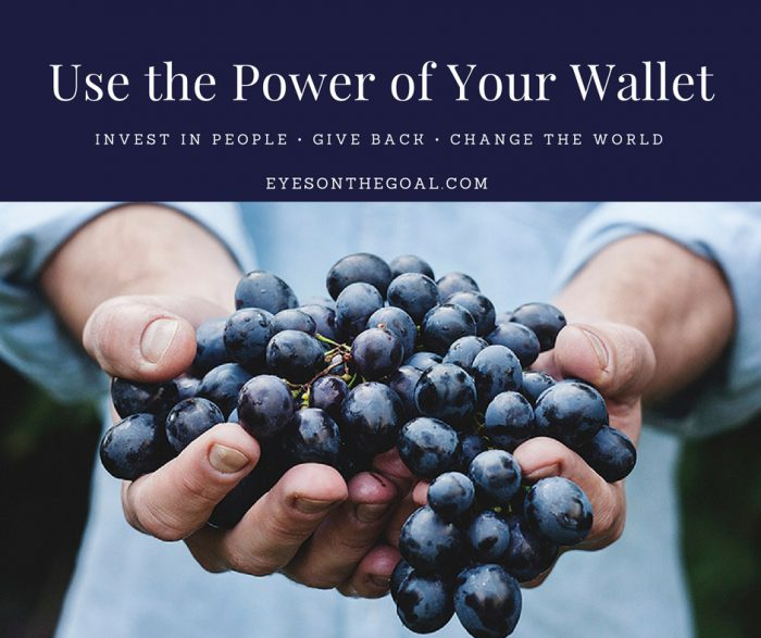 Use the power of your wallet