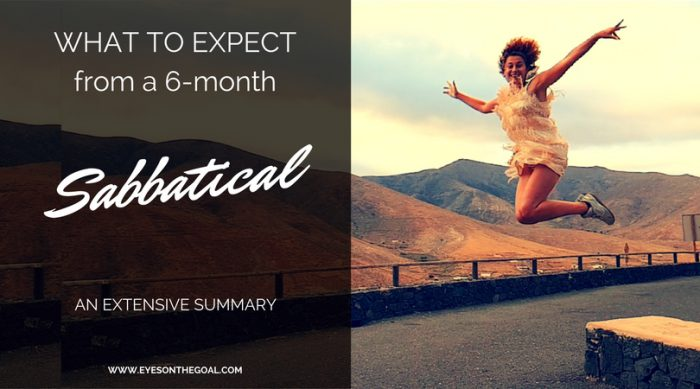 What to expect from a 6-month sabbatical